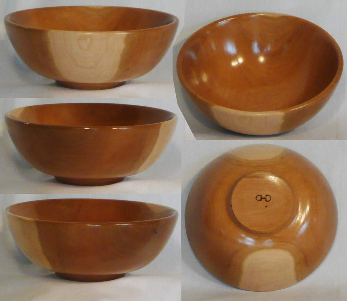 Cherry bowl hand turned by Cynthia D. Haney.